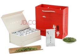 广州碧梦 明前 茶叶 嫩芽 西湖龙井 办公 礼品盒装 生态龙井 绿茶100g 白色
